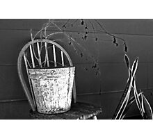 bucket on chair Photographic Print