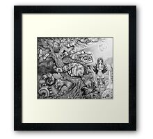 Alice and the Cheshire Cat Framed Print