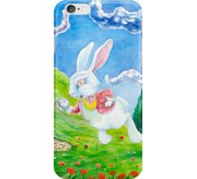 Oh dear! I shall be late! (Alice and the White Rabbit) iPhone Case/Skin