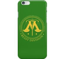 BEAST DIVISION seal - (Harry Potter) iPhone Case/Skin