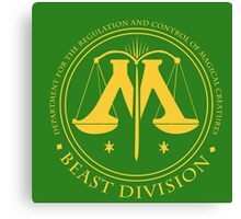 BEAST DIVISION seal - (Harry Potter) Canvas Print