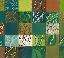 Euca Abstract (Flat Detail Section 1) by Kerryn Madsen-Pietsch