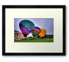 UP 3 ! - Balloonfest,Canberra Australia - The HDR Experience Framed Print