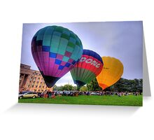 UP 3 ! - Balloonfest,Canberra Australia - The HDR Experience Greeting Card