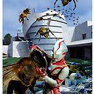 Ultraman vs. the killer bees by Susan Ringler