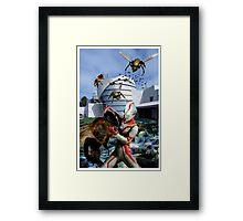 Ultraman vs. the killer bees Framed Print