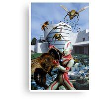 Ultraman vs. the killer bees Metal Print