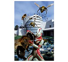 Ultraman vs. the killer bees Photographic Print