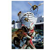 Ultraman vs. the killer bees Photographic Print