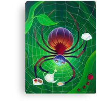 Spider Snack Canvas Print