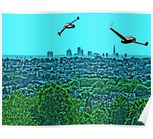 Scooting over the city by #fftw Poster