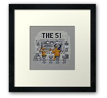 Meanwhile inside the area Framed Print