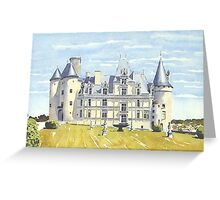 Château, La Rochefoucauld, France Greeting Card