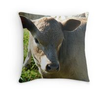 Cute Calf Throw Pillow