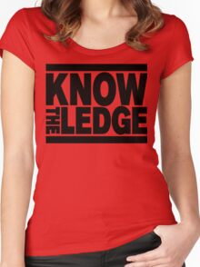 KNOW THE LEDGE Women's Fitted Scoop T-Shirt
