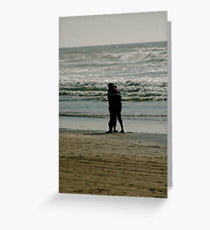 Couple on Beach Greeting Card