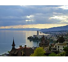 Montreux Evening Photographic Print