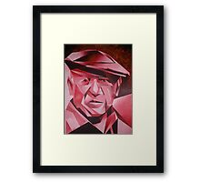 Cubist Portrait of Pablo Picasso: The Rose Period Framed Print