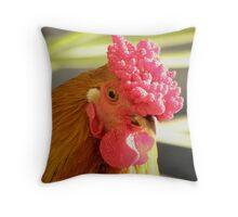 'PUNK' Hen Throw Pillow