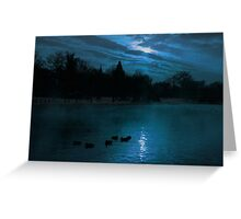 Moonlight silhouettes Greeting Card