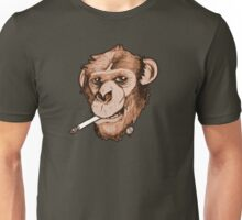 Smoking Monkey Unisex T-Shirt