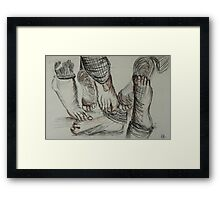 On Your Toes Framed Print
