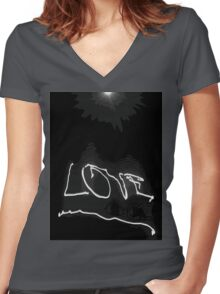 cool love Women's Fitted V-Neck T-Shirt