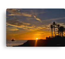 Palm Sunset~ Canvas Print