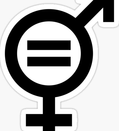 Gender Equality (Feminism) Print  Sticker