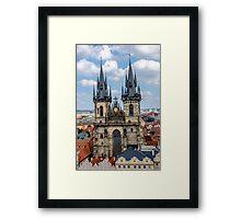 Teyn gothic cathedral in Prague Framed Print