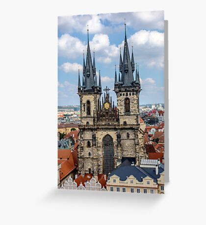 Teyn gothic cathedral in Prague Greeting Card