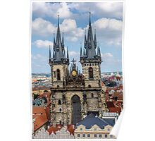 Teyn gothic cathedral in Prague Poster