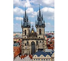 Teyn gothic cathedral in Prague Photographic Print