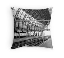 Antwerp Train Station Entrance Throw Pillow
