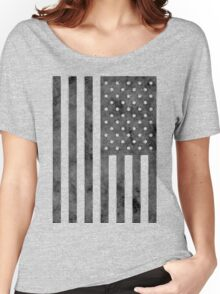 US Flag Grunge Style Women's Relaxed Fit T-Shirt