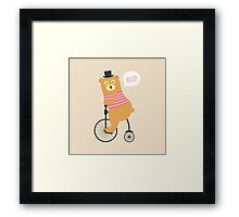 Bear on a Bicycle Framed Print
