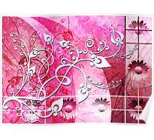 Spring pink Poster