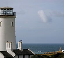 Old lower lighthouse & current Portland Bill lighthouse by buttonpresser