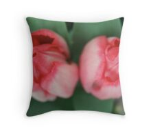 Softly, Softly Tulips in Love Throw Pillow