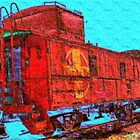 Santa Fe Railroad Caboose by Bob Wall