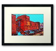 Santa Fe Railroad Caboose Framed Print