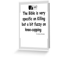 The Rev Book Killing / Knee-capping Greeting Card