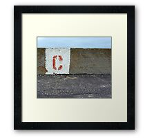Bloody C Framed Print