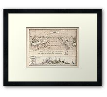 Atlas zu Alex V Humbolt's Cosmos 1851 0160 Histographic Map of the Earth Framed Print