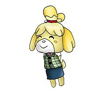 Isabelle Chibi (Animal Crossing:New Leaf) Photographic Print