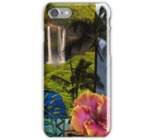 Opaeka'a Falls, Kauai Hawaiian Digital Mixed Media iPhone Case/Skin