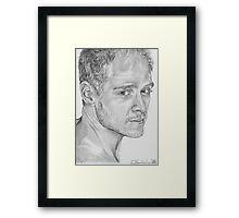 Male portrait study Framed Print