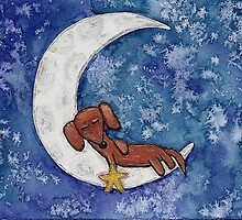 Dachshund on the Moon by PashaTP