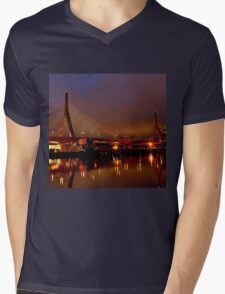 Zakim bridge Mens V-Neck T-Shirt