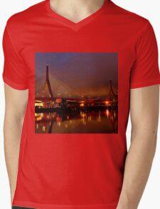 Zakim bridge Mens V-Neck T-Shirt